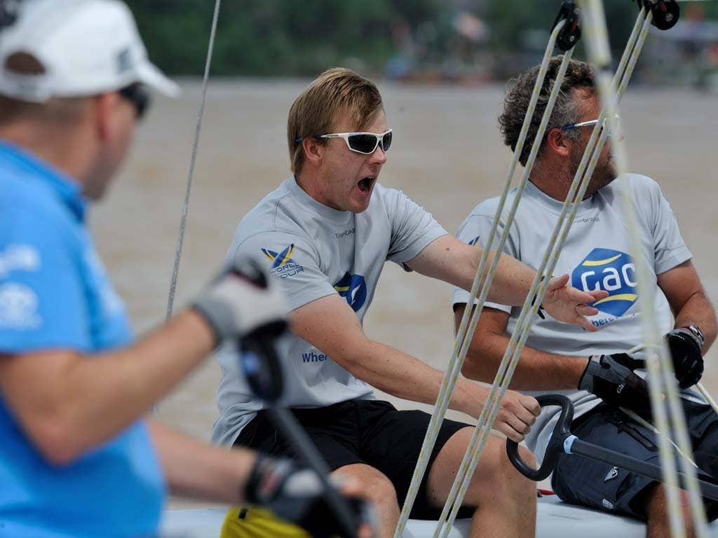 The pressure is on for Team GAC Pindar skipper Ian Williams at the World Match Racing Tour's Monsoon Cup in Malaysia