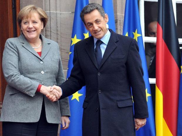 AngelaMerkel and Nicolas Sarkozy met in Strasbourg today