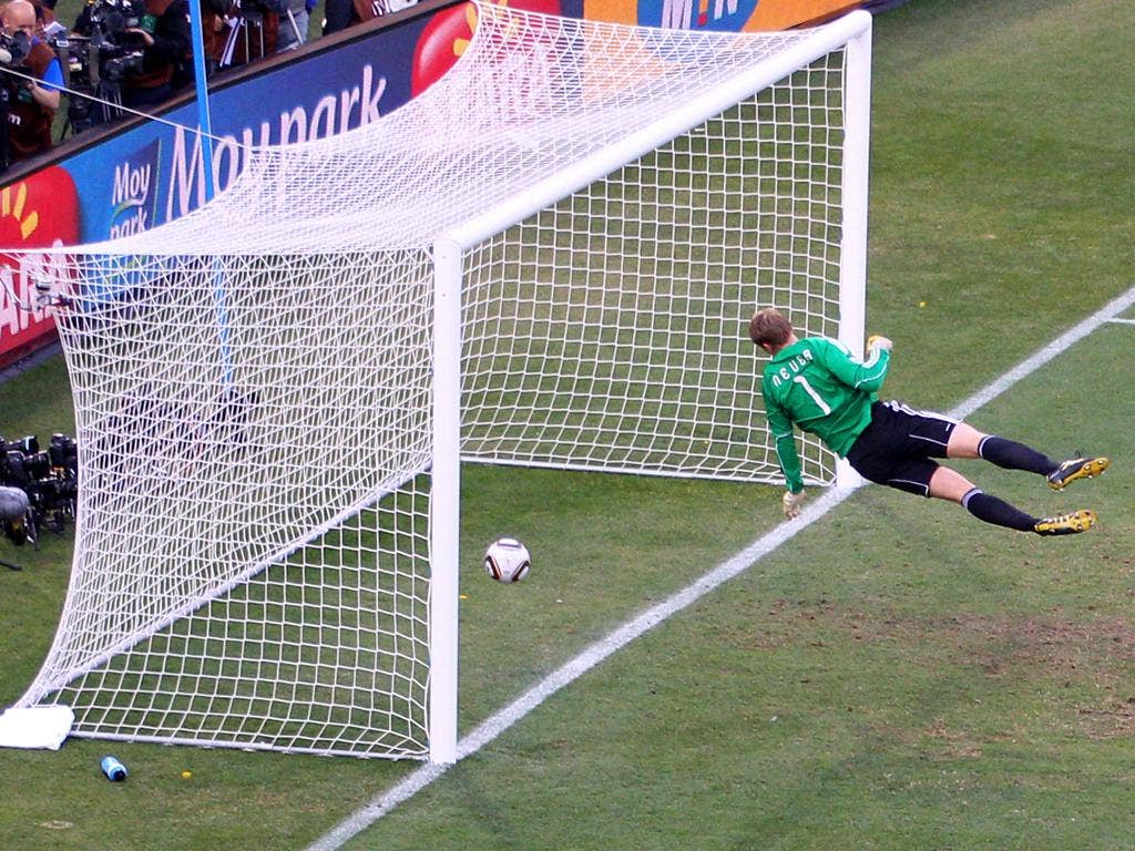 Goal-line technology would have allowed Frank Lampard's goal against Germany to stand