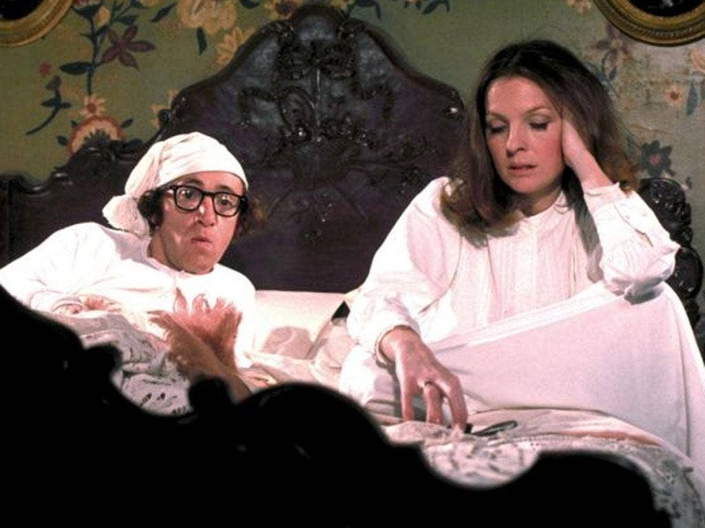 Story of their lives: Diane Keaton with Woody Allen in the film, 'Love and Death'