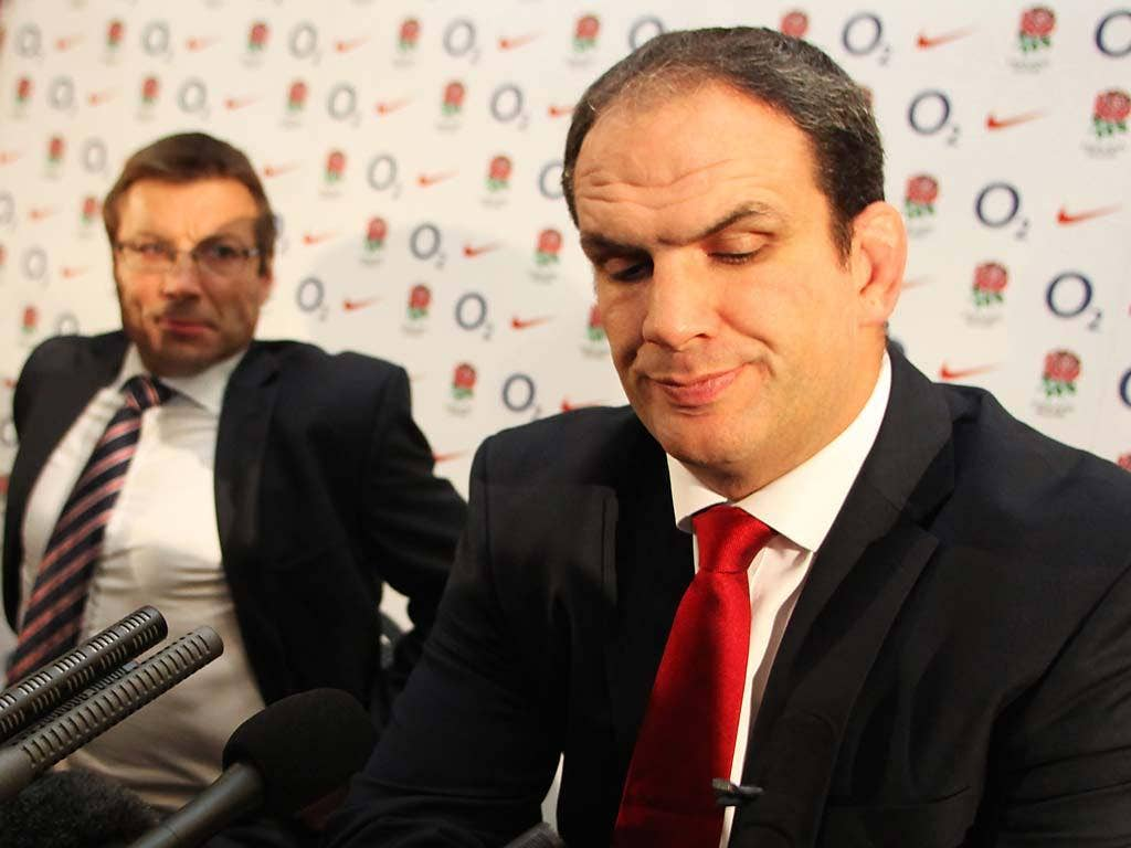 Martin Johnson quit as England manager last week