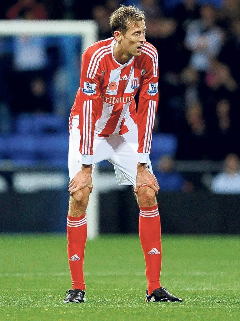 Peter Crouch has not been helped by how top-flight sides have wised up to Stoke's style
