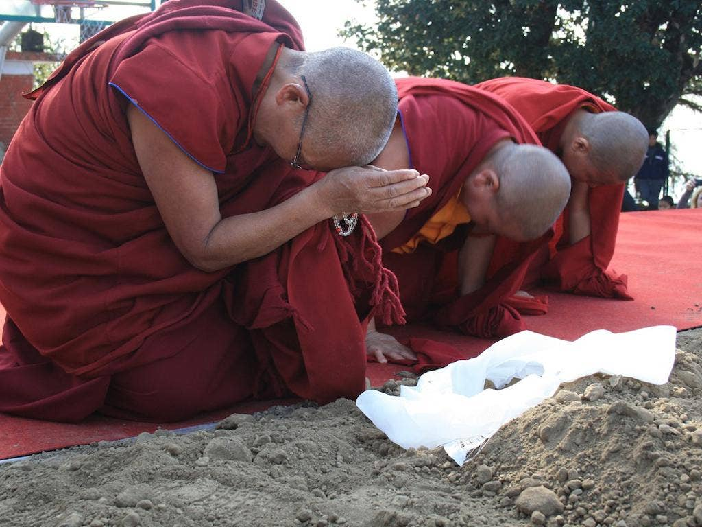 Monks blessing the soil: 'People were getting crying and getting very emotional'