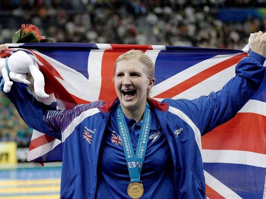 Rebecca Adlington won gold in Shanghai