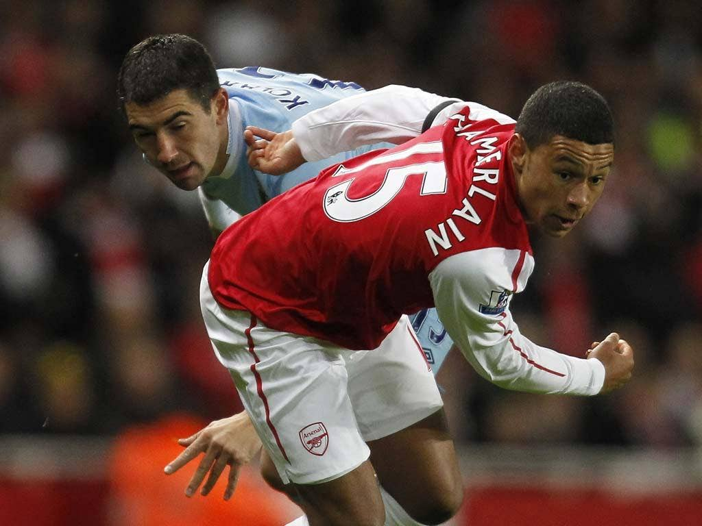Alex Oxlade-Chamberlain shone particularly brightly for Arsenal