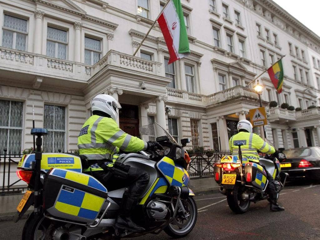 Iran's diplomatic mission in London was closed down