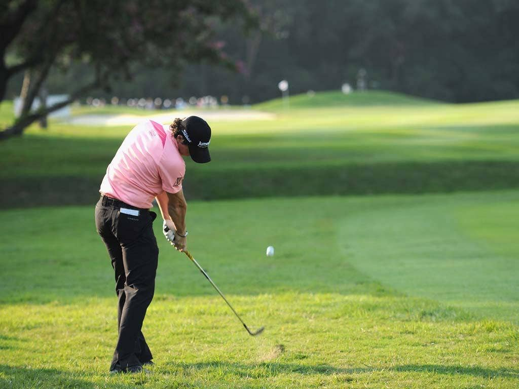Rory McIlroy pictured at the Hong Kong Open