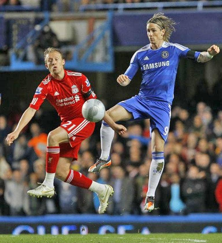 Lucas Leiva was in fine form for Liverpool before injury ended his season early