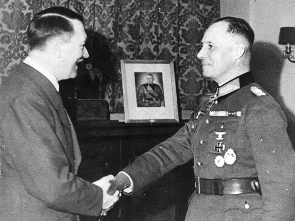 Erwin Rommel, right, with Hitler