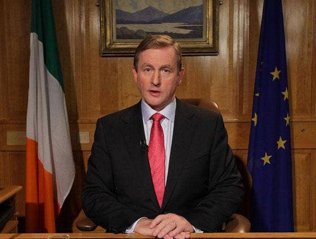 Enda Kenny addressed the nation to tell the public they are not to blame for the economic collapse