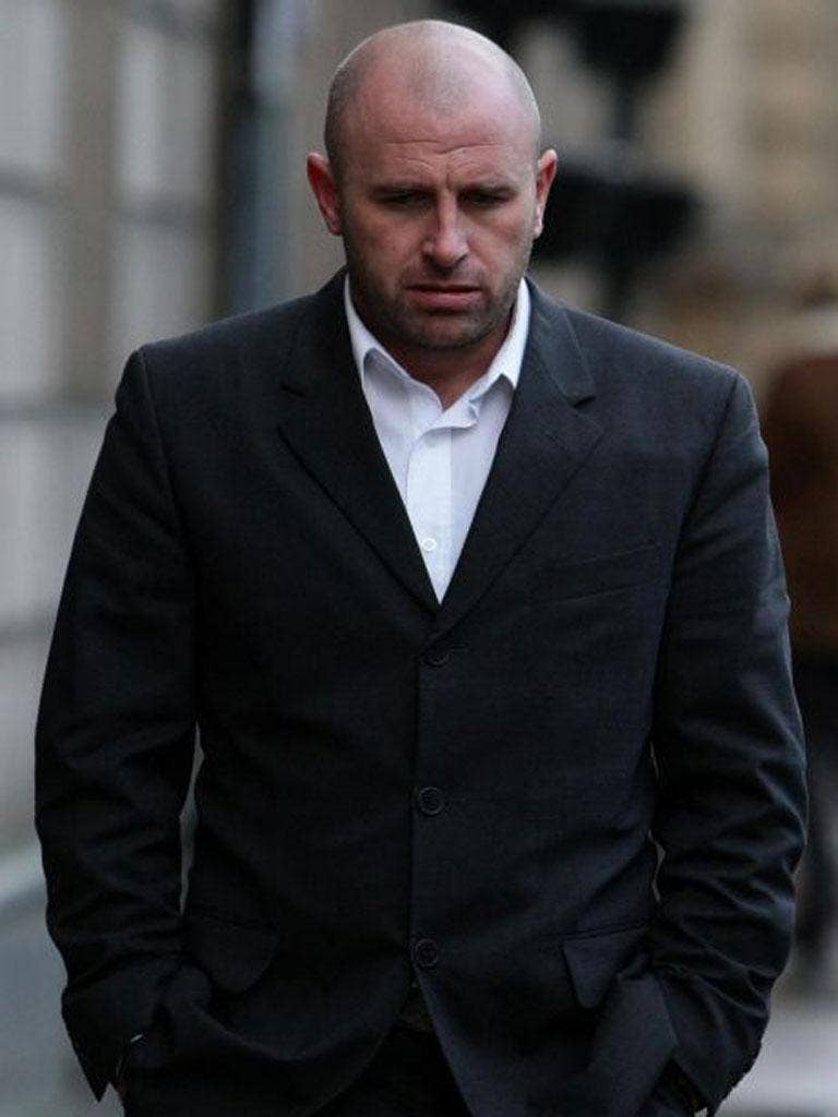 Ronnie Wallwork arrives at Preston Crown Court for sentencing