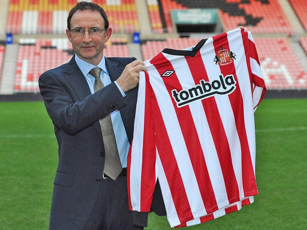 Martin O'Neill is unveiled as the new manager of Sunderland