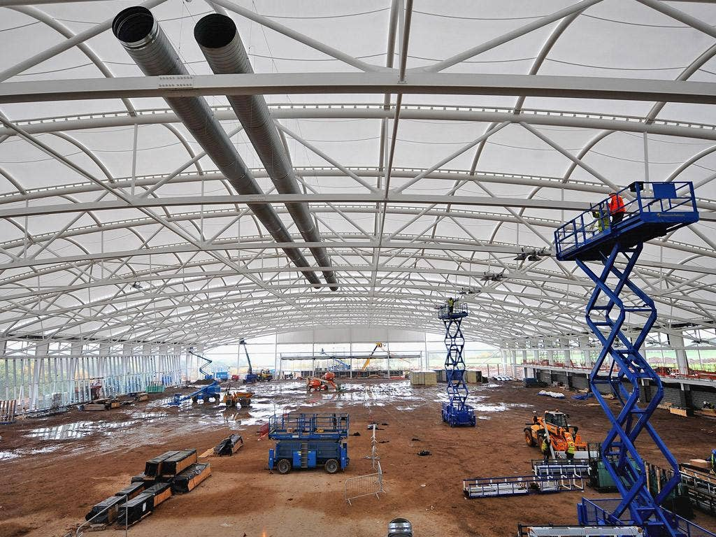The new St George's Park facility, which is nearing completion, will put England on a par with France