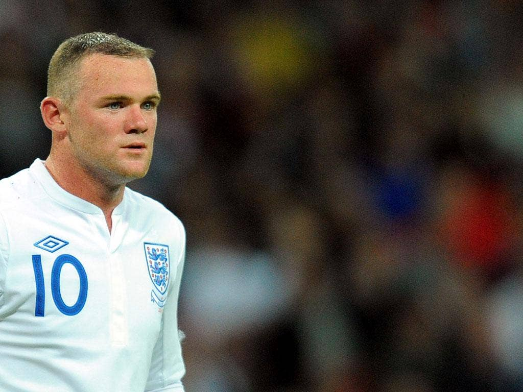 Rooney was given the three-match ban after his dismissal for violent conduct against Montenegro