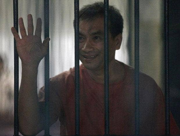 Lerpong Wichaikhammat was jailed for two-and-a-half years today for insulting the Thai monarchy