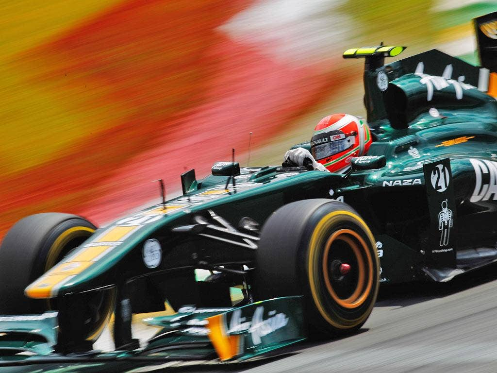 Jarno Trulli of Team Lotus during the Brazilian Formula One Grand Prix