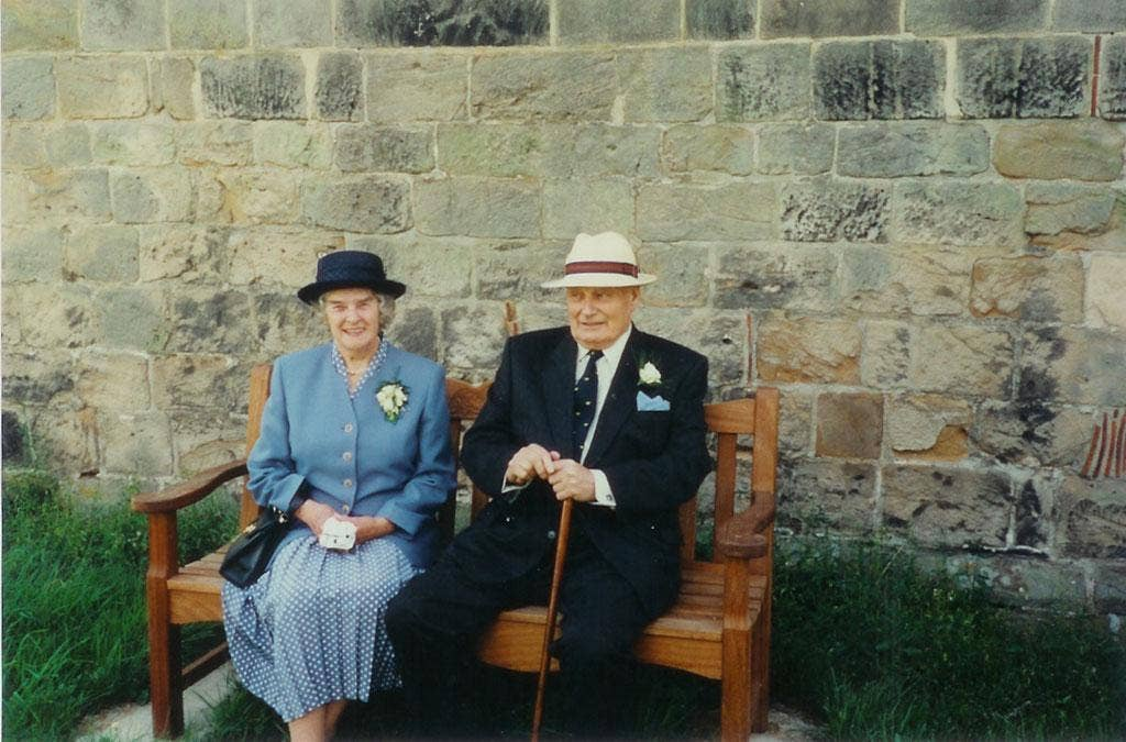 Arthur and Joan Foster at a family wedding in 1997
