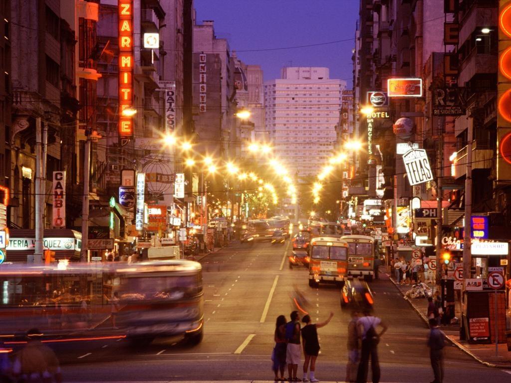 Montevideo at dusk