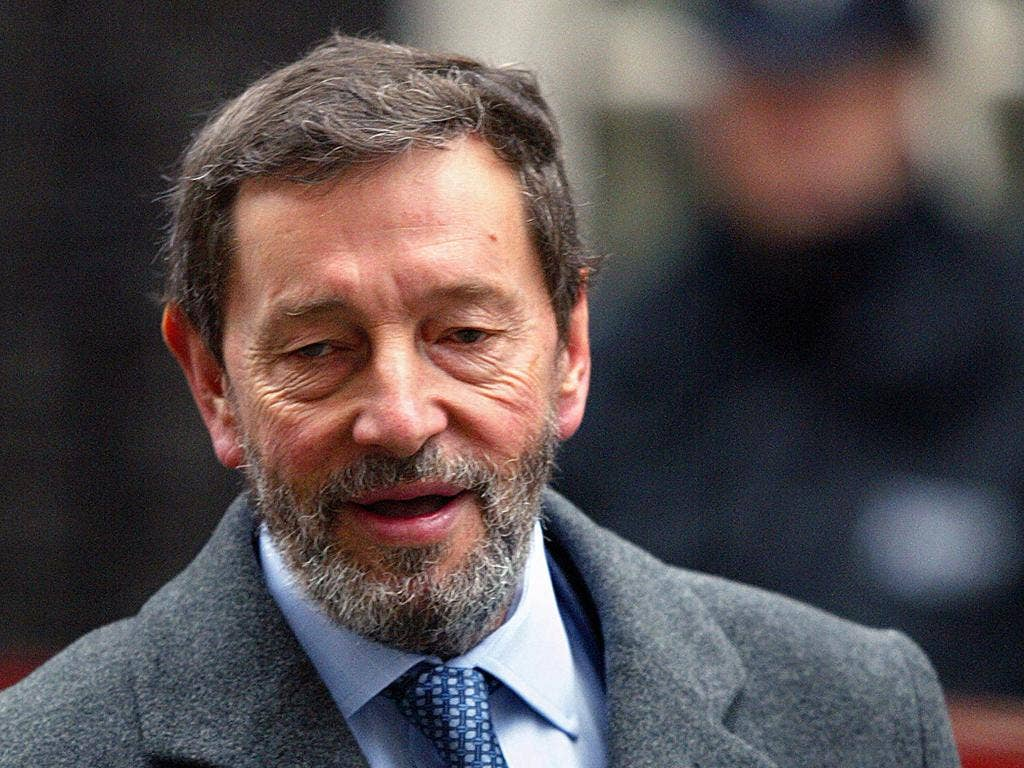 """Mr Blunkett said he believed Ed Miliband would win the election and that he was the """"only man"""" for the job"""