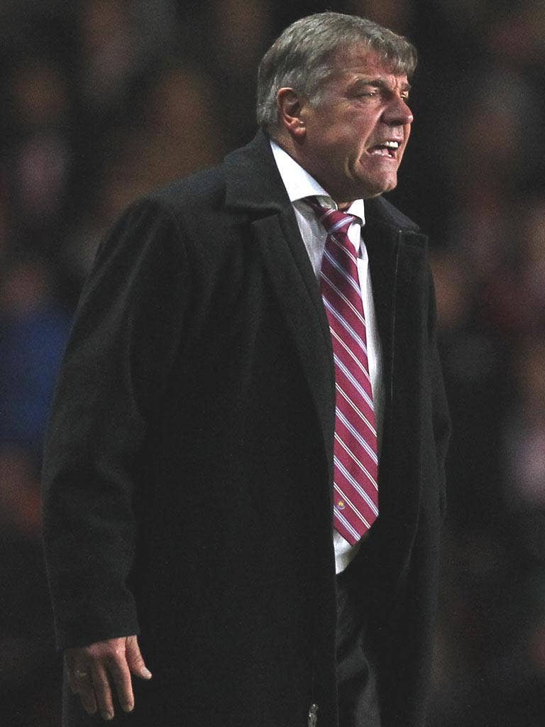 SAM ALLARDYCE: The West Ham manager had his 'worst day', losing 3-0 to Reading