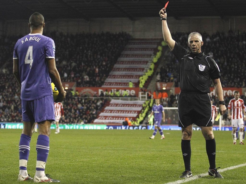 Matthew Etherington scores Stoke City's second goal against Spurs yesterday