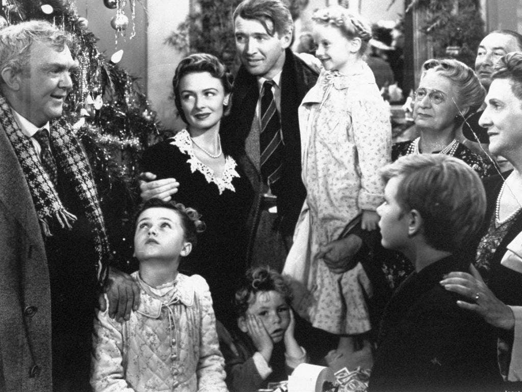 Family man: James Stewart in 'It's a Wonderful Life'