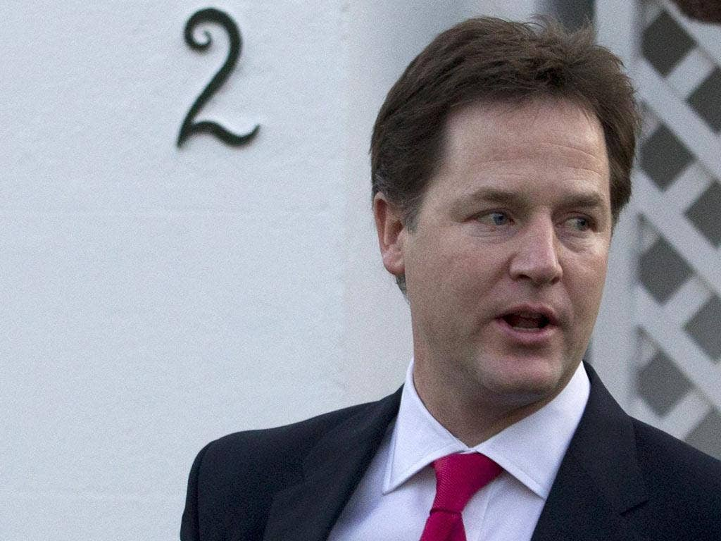 Nick Clegg insisted the public were not bothered whether he was at the Prime Minister's side in the Commons or not