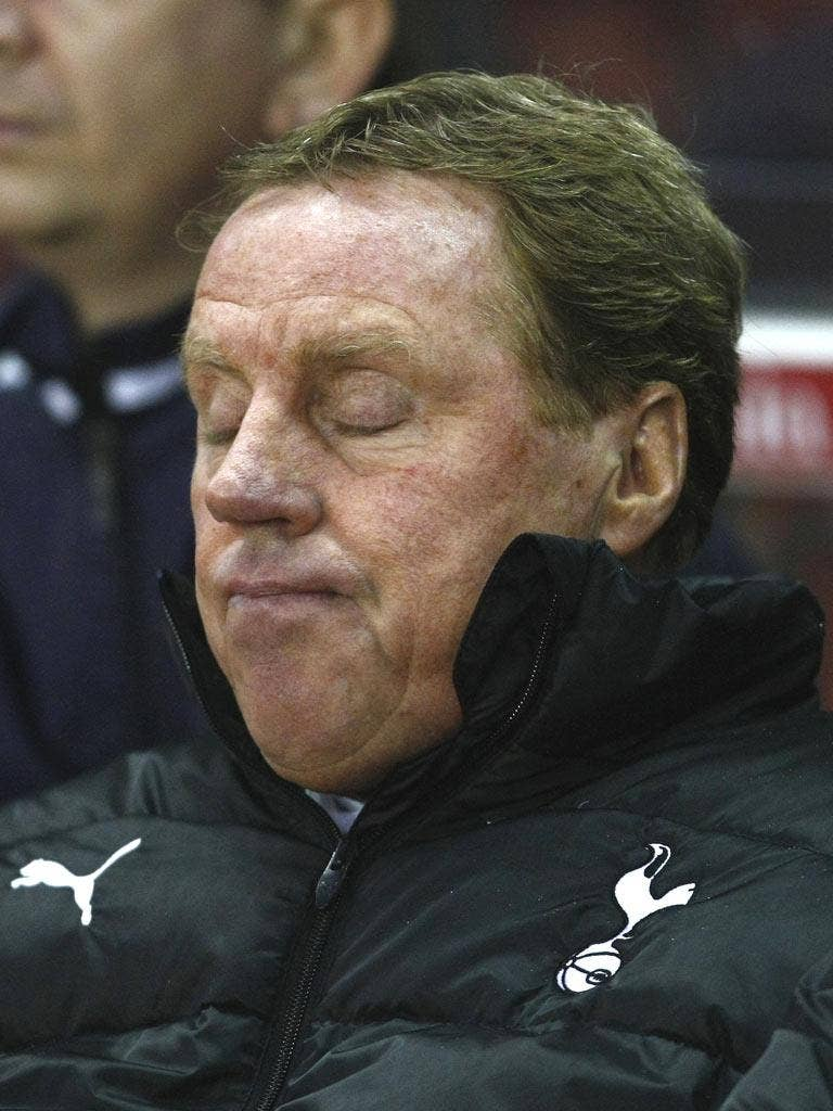 Harry Redknapp was unimpressed by the referee at Stoke on Sunday