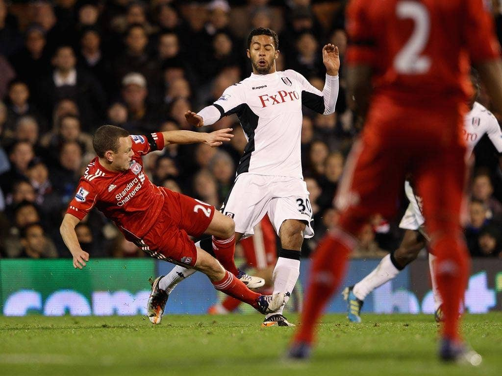 Spearing was shown a straight red for this challenge against Fulham