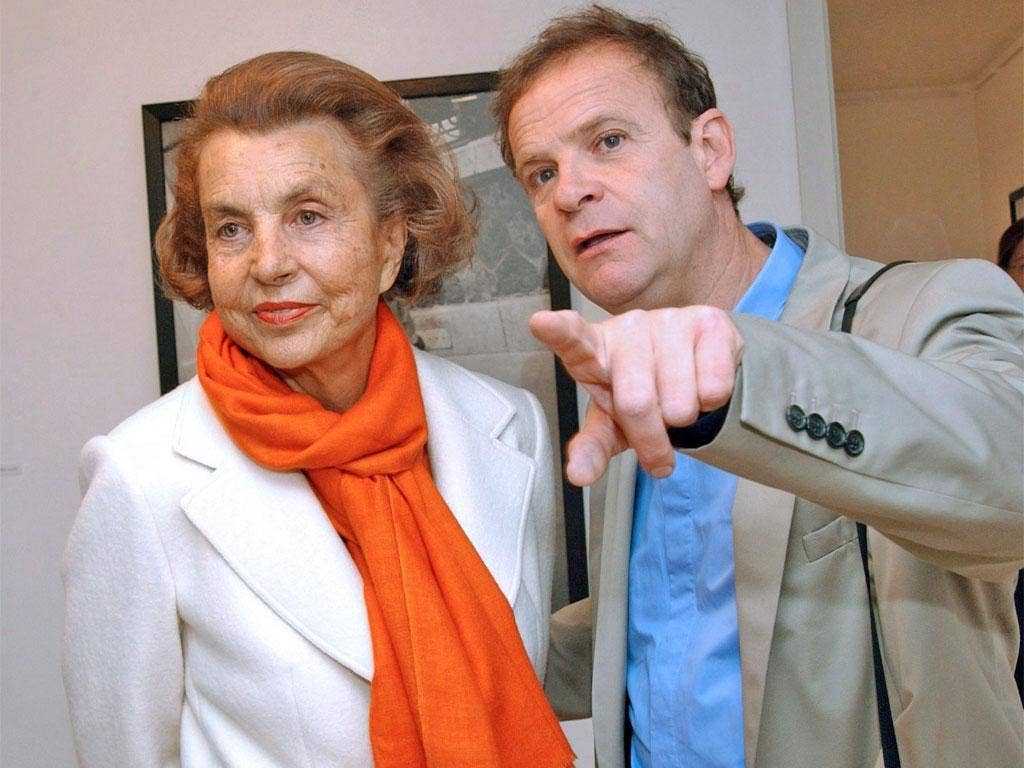 Francois-Marie Banier with the heiress, Liliane Bettencourt, in 2004