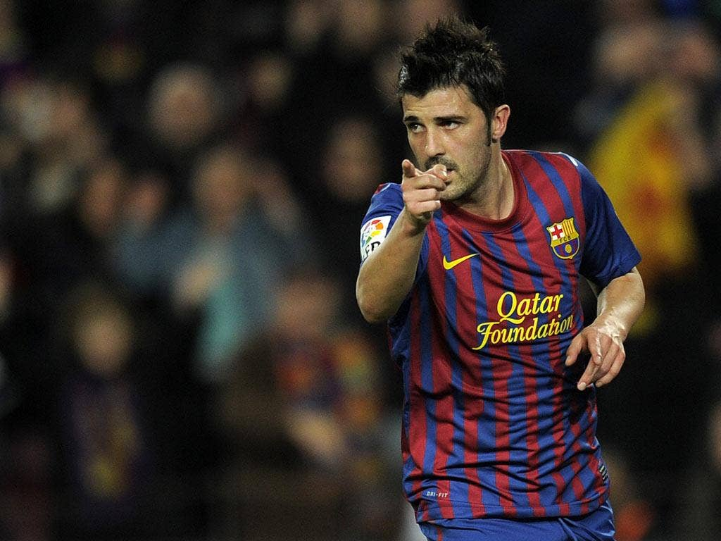 David Villa was linked with Chelsea, Liverpool and Aston Villa