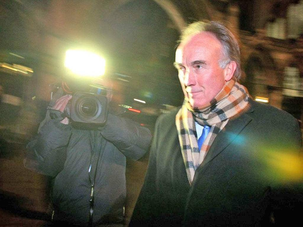 Tom Crone leaves after giving evidence to the Leveson Inquiry this week. He said the 'for Neville' email had been shown to James Murdoch