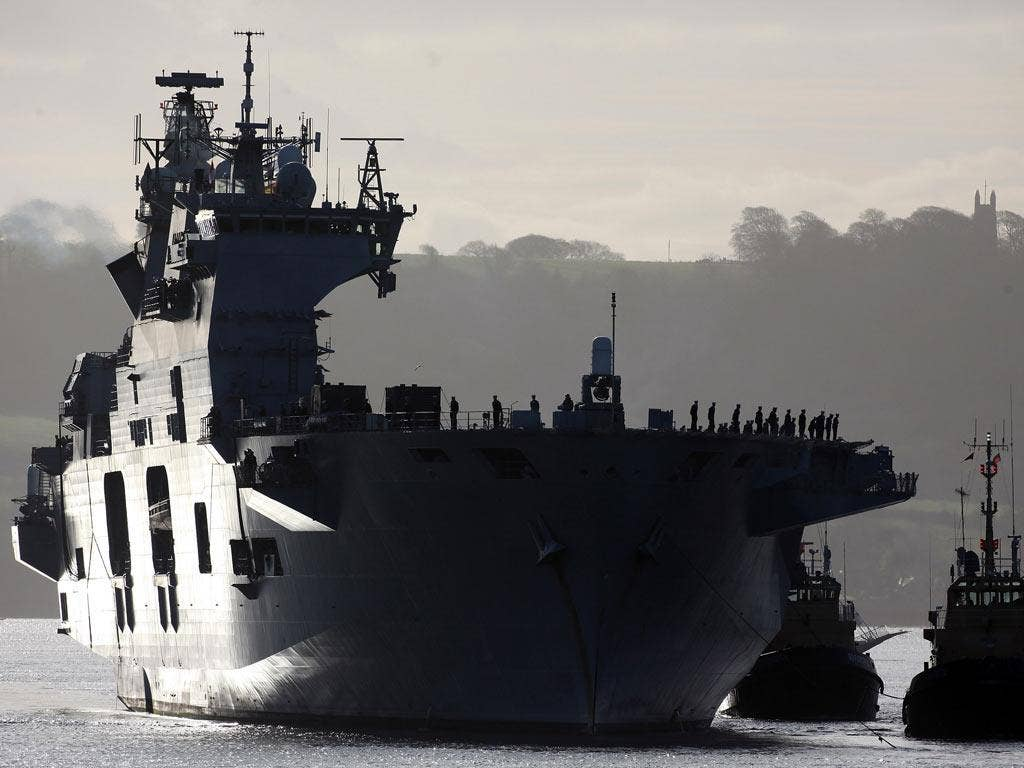 HMS Ocean will be based in Greenwich
