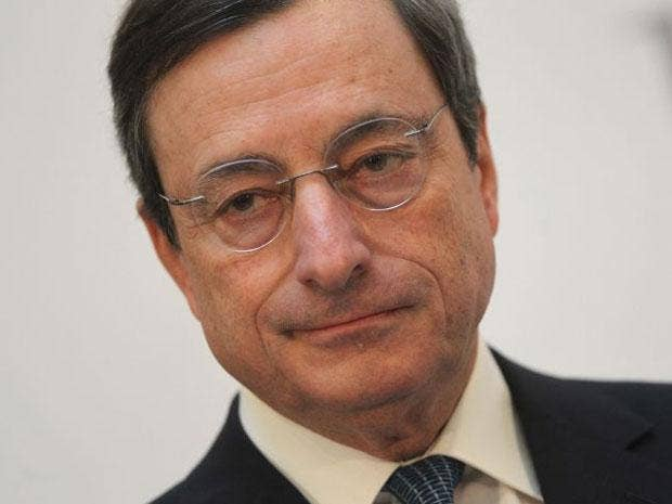 Mario Draghi said governments must take the tough steps to balance budgets and reform economies to promote growth