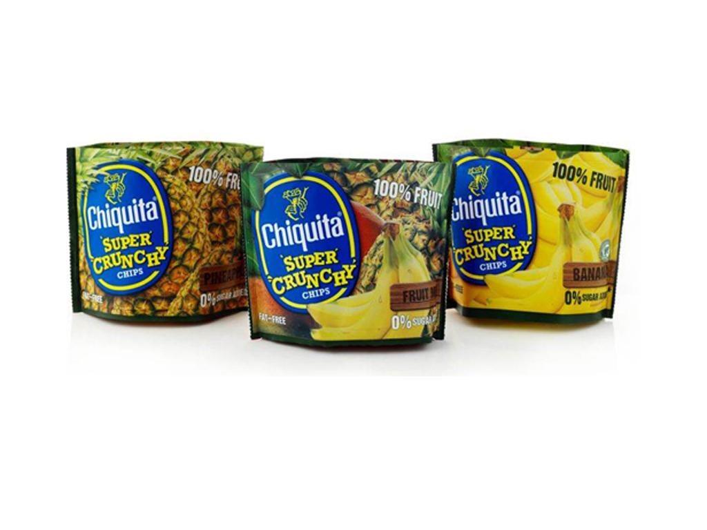 Chiquita dried pineapple, banana and mango chips