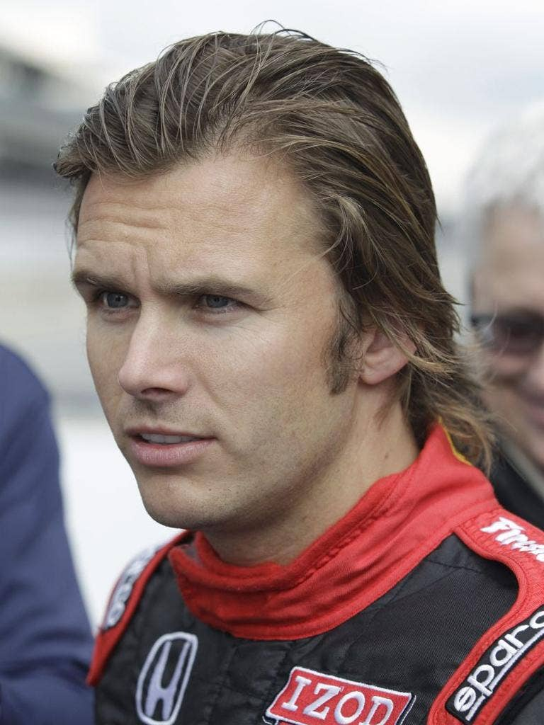 Dan Wheldon was killed by a head injury after colliding with a post