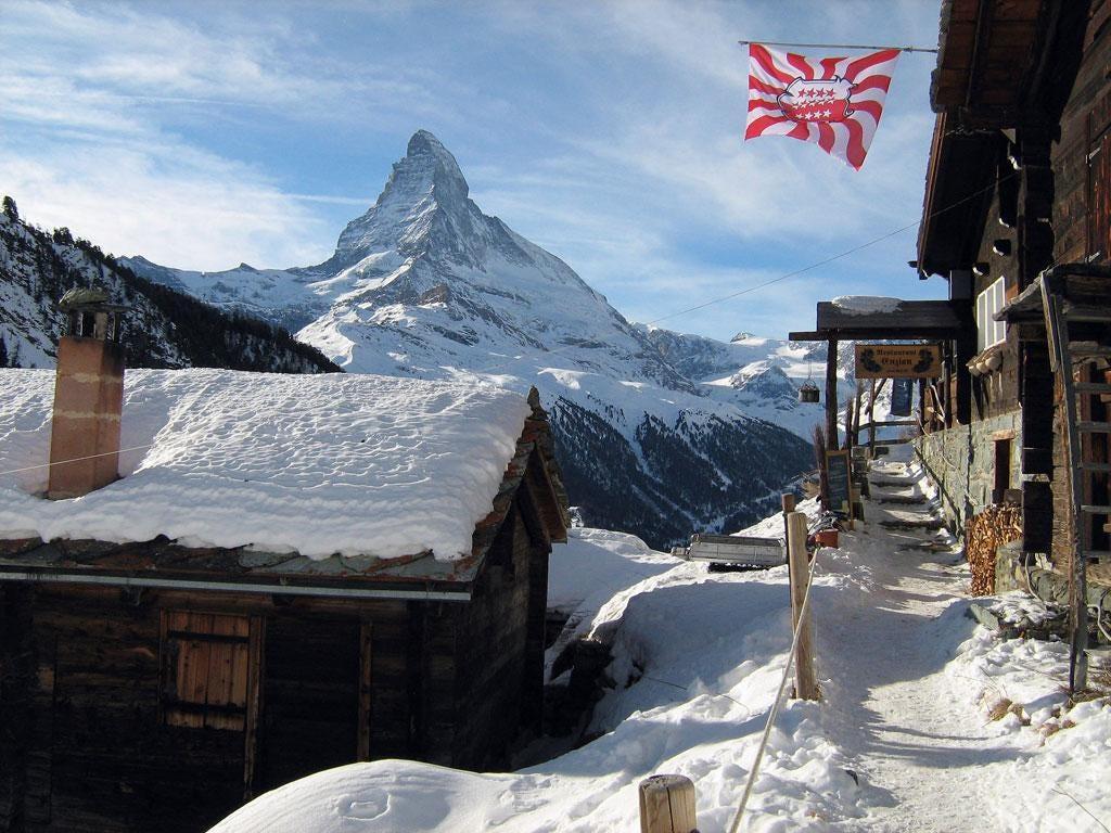 High road: The scenic rail journey departs from Zermatt