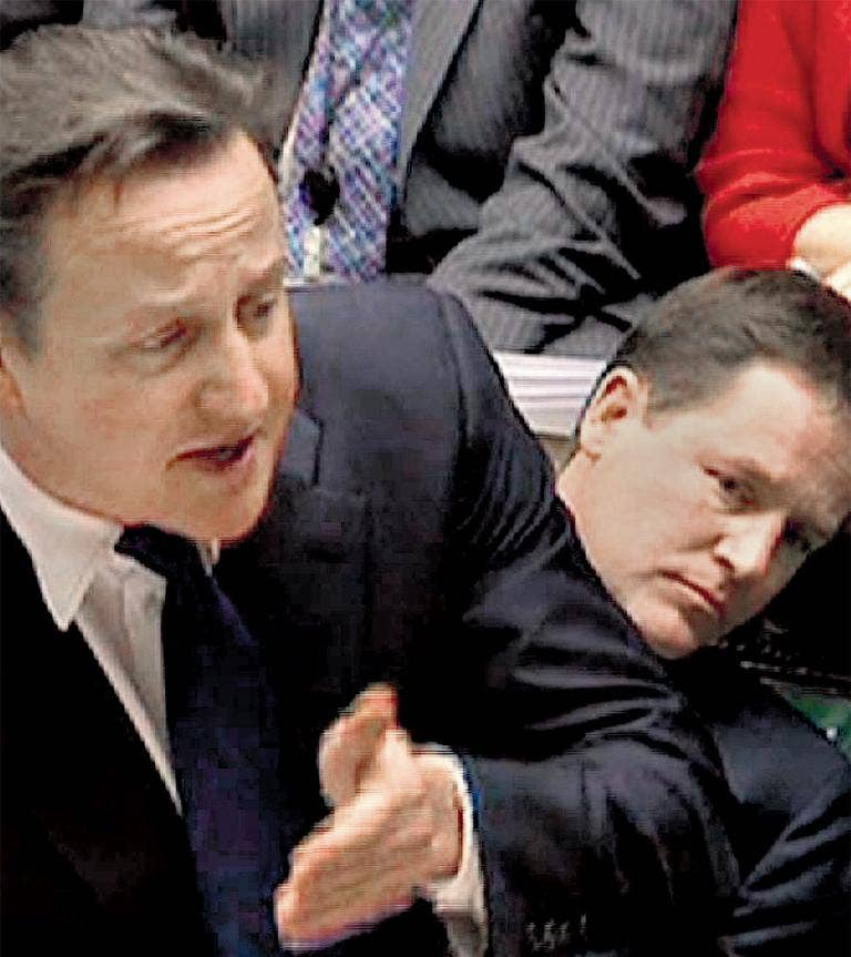 Nick Clegg was at PMQ on Wednesday, but missed the Tory leader's Monday statement on Europe