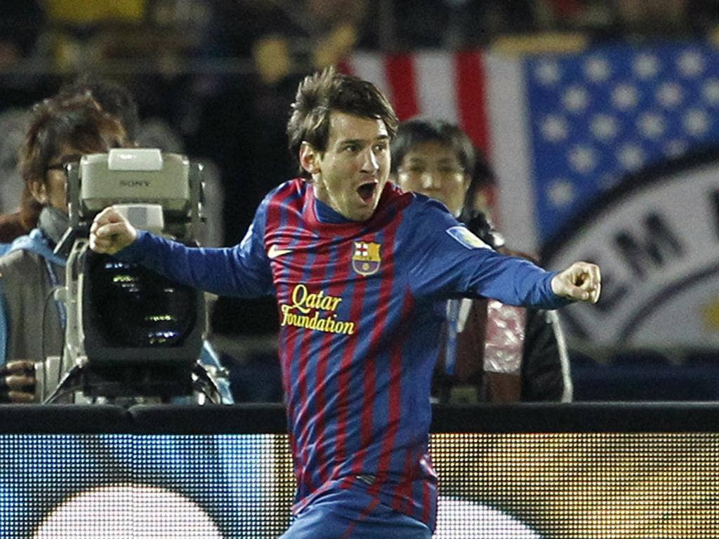 Lionel Messi: The Barcelona striker scored the first and last goals in his side's 4-0 Club World Cup win in Japan