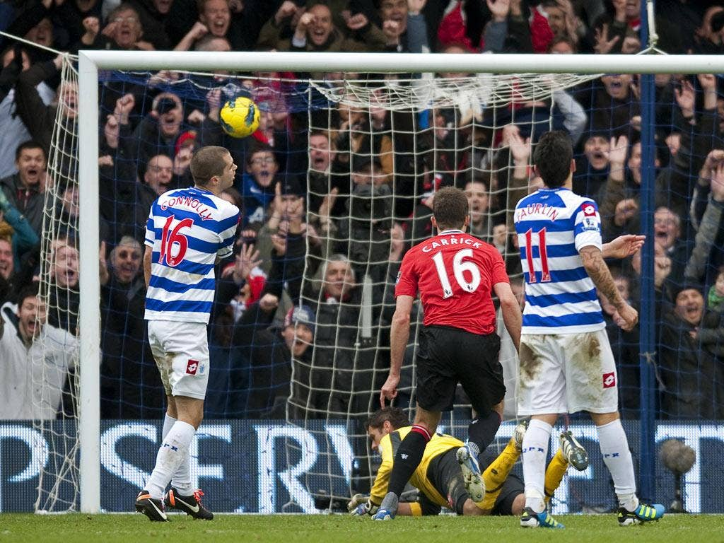 Carrick scored a rare goal in the win over QPR