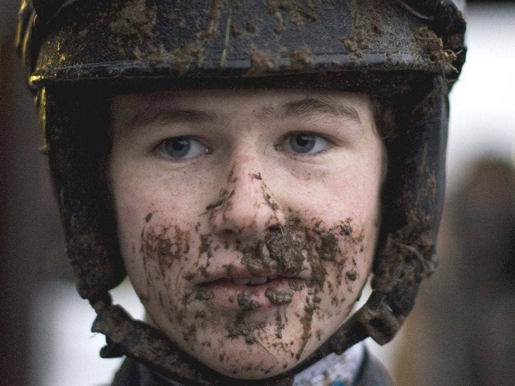 Claiming jockey Brendan Powell Jnr made a splash at Plumpton yesterday with his first treble