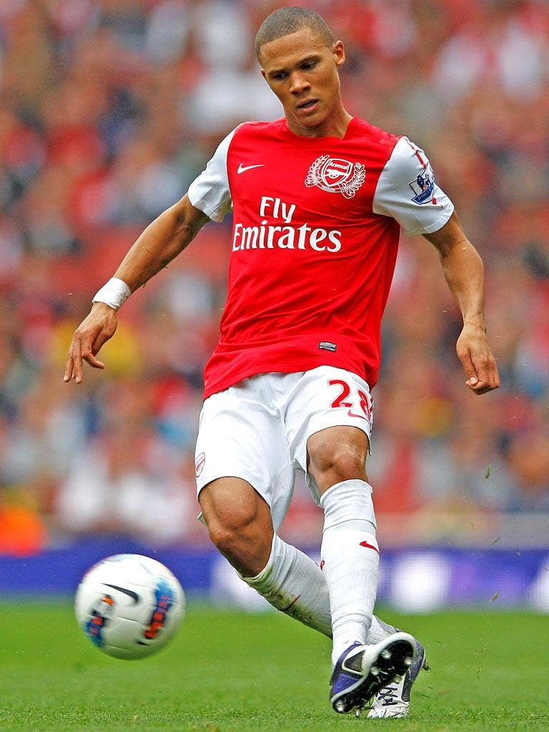 Kieran Gibbs' hopes for playing against Aston Villa tonight have been dashed