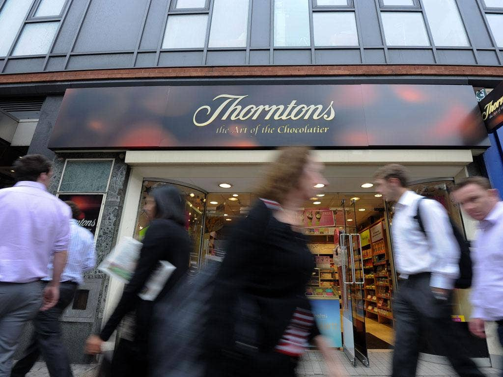 Thorntons raised fears of a Christmas flop on the high street today