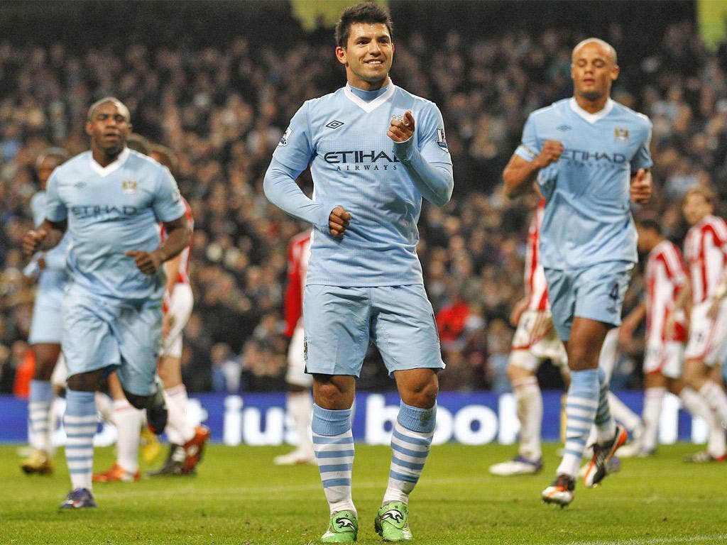 Sergio Aguero scored twice