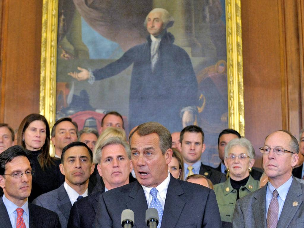The House Speaker, John Boehner, has not been spared by his Republican colleagues