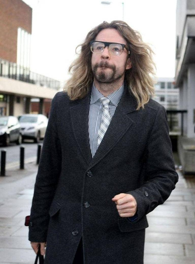 Justin Lee Collins leaves St Albans Magistrates Court