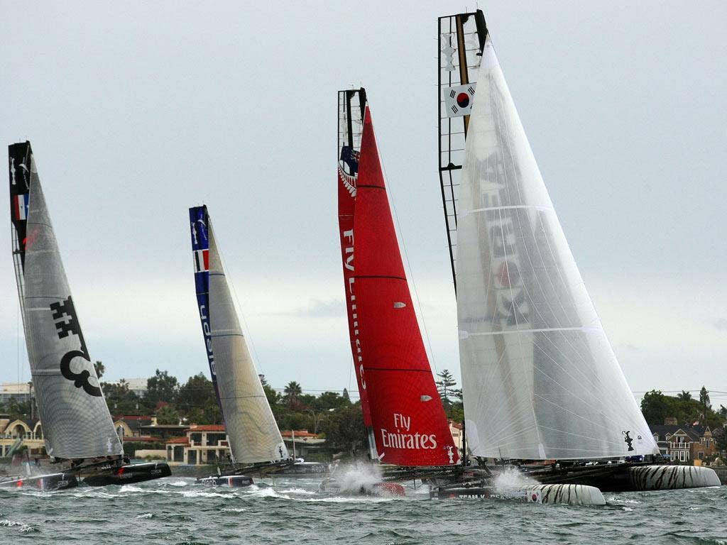 Team Korea during the America's Cup World Series