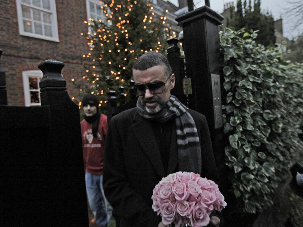 After a month struggling with pneumonia in a hospital in Vienna, George Michael returned to London and gave a press conference yesterday in which he thanked his doctors for saving his life