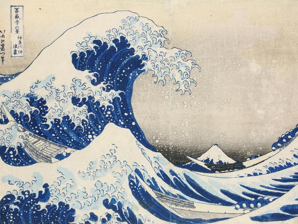 Sea-slide: 'Great Wave' by Hokusai