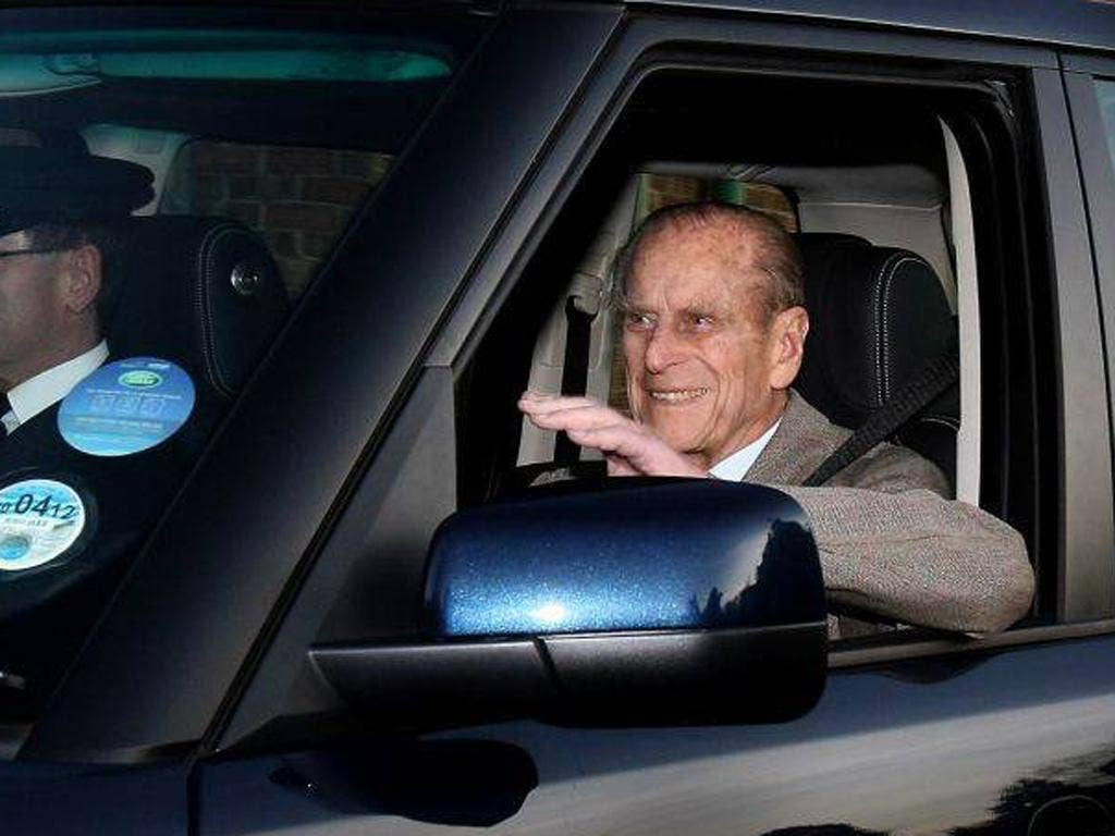Prince Philip, Duke of Edinburgh, is driven from Papworth Hospital
